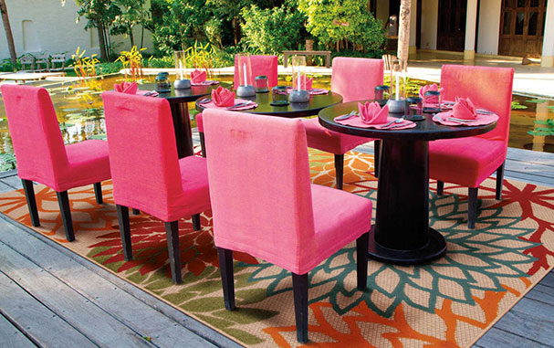 how an outdoor rug works