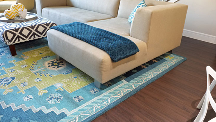 rug under couch rules